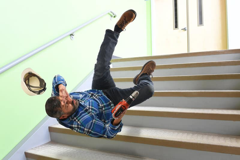 workplace hazards fall and trips